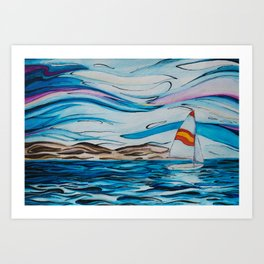Newport Sailboat Art Print