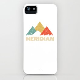 Retro City of Meridian Mountain Shirt iPhone Case
