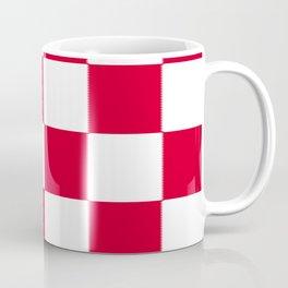 Red and white zig zag checkered artwork Coffee Mug