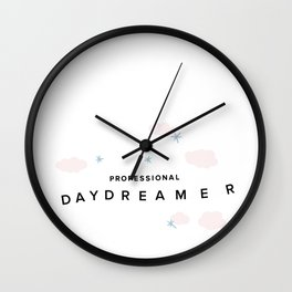 Professional Daydreamer Wall Clock