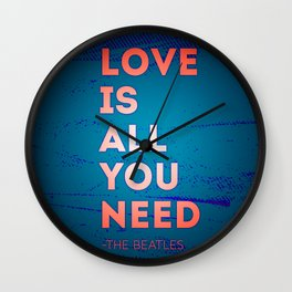 Quotable quotes summer Wall Clock