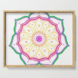 Mandala on white background. Serving Tray