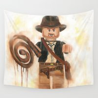 indiana Wall Tapestries featuring Indiana Jones Lego by Toys 'R' Art