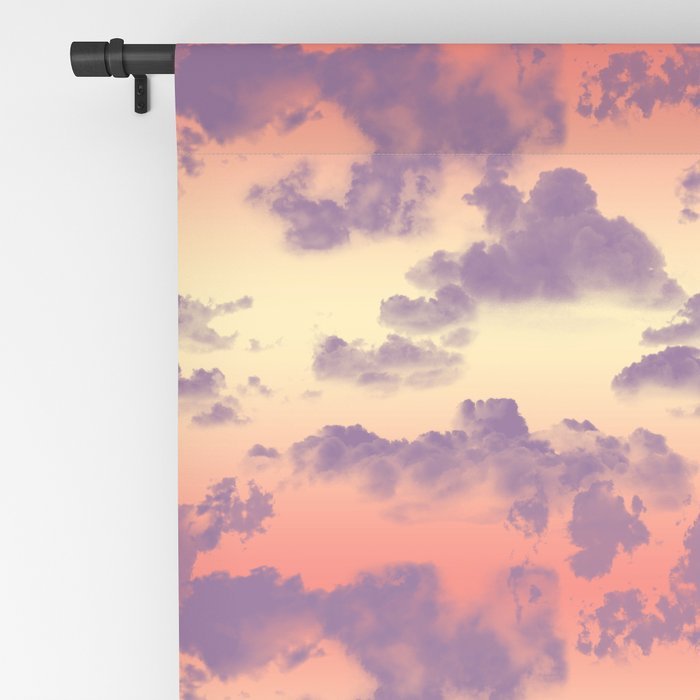 Cloudy Tropical Sunset Sky Pattern Blackout Curtain