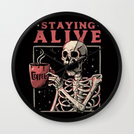 Staying Alive Wall Clock