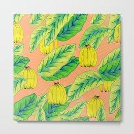 Banana Jungle - Peach Metal Print
