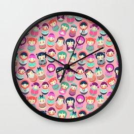 Babushka Russian doll pattern Wall Clock