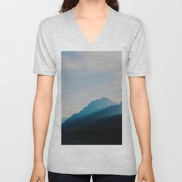 The Mountains int he Fog (Color) Unisex V-Neck