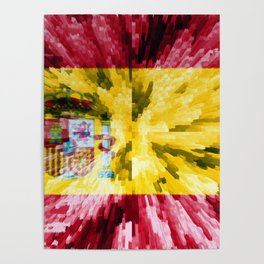 Extruded Flag of Spain Poster