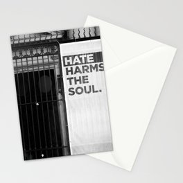 Hate Harms the Soul Stationery Cards