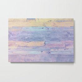 Colorful wood Metal Print