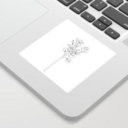 Botanical floral illustration line drawing - Eucalyptus Sticker
