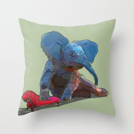 animals in chairs #25 The Elephant Throw Pillow