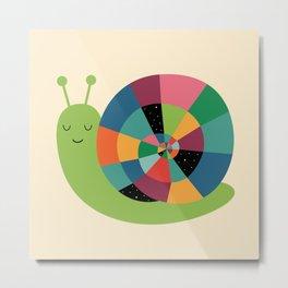 Snail Time Metal Print