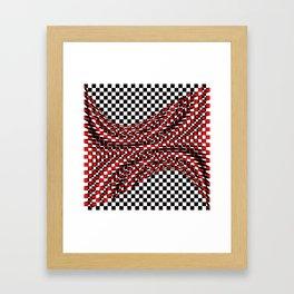 black white red Framed Art Print