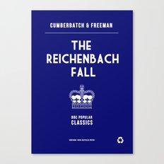 BBC Sherlock The Reichenbach Fall Minimalist Poster Canvas Print
