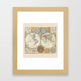 A General Map of the World - Laurie 1794 Framed Art Print