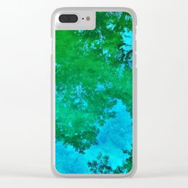 Green Reflections Clear iPhone Case