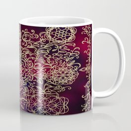 Gold Embroidery Coffee Mug