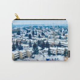 Tilt Shift Miniature Downtown Calgary Carry-All Pouch