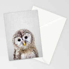 Baby Owl - Colorful Stationery Cards