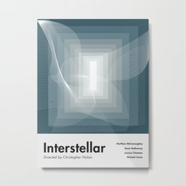 Interstellar alternative movie poster Metal Print