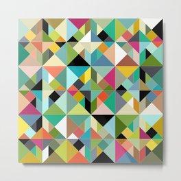 tangram geo multi Metal Print