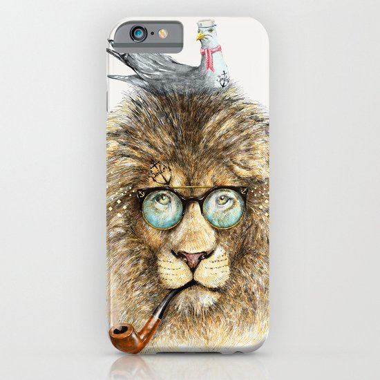 Lion sailor & seagull iPhone & iPod Case