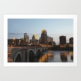 Minneapolis Skyline - Central Ave View Art Print