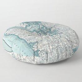 Puget Sound Map Floor Pillow