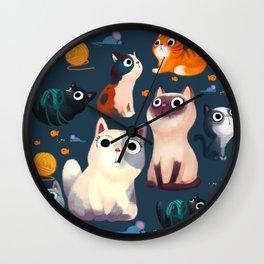 Cat Print Wall Clock