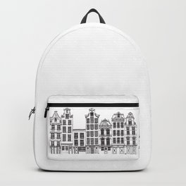 Amsterdam facades illustration Backpack