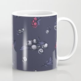 Blueberry pattern, trendy ultraviolet color Coffee Mug