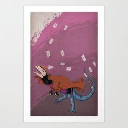 Gambilophosaurus - Superhero Dinosaurs Series Art Print