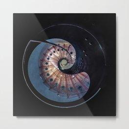 Spiral glass staircase Metal Print
