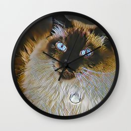 The PERSIAN from our FUNK YOUR FELINE line Wall Clock