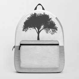 Tree Artwork Grey And Black Landscape Backpack