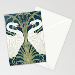 Swan Rush and Iris by Walter Crane Stationery Cards
