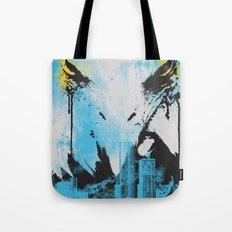 Eagle Eye Watching - Blue Tote Bag