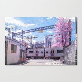 Seoul Anime Train Tracks Canvas Print