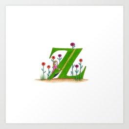 z if for zipper Art Print