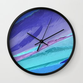 Silky Pastel Waves Wall Clock