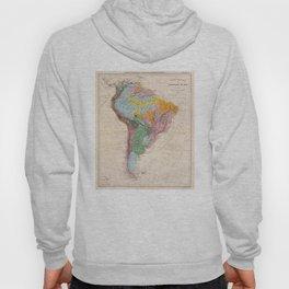 Vintage Geological Map of South America (1873) Hoody