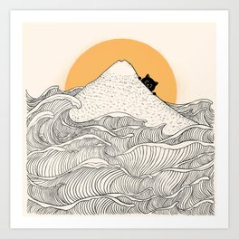 Good Morning Meow 1 Art Print