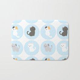 Cute Blue Kitties Bath Mat