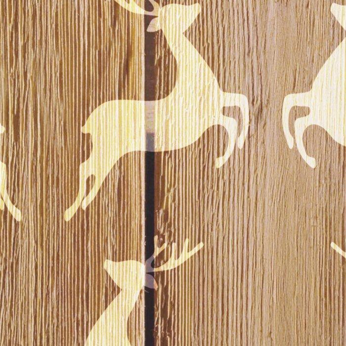 Christmas Pattern on Wood 02 Leggings