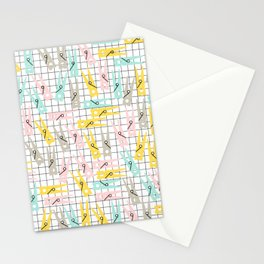 Clothes Peg Pattern Stationery Cards