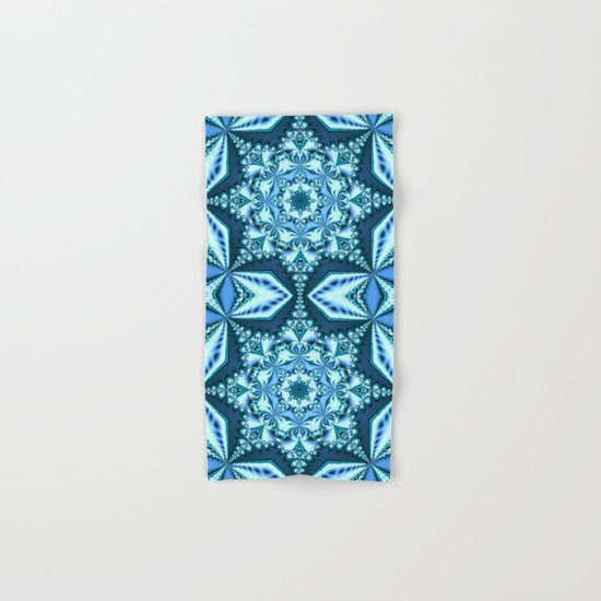 Blue winter snowflake Hand & Bath Towel