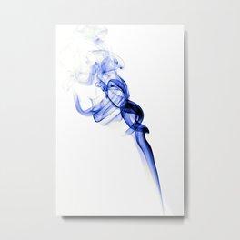 Smoke #3 -- Blue Metal Print