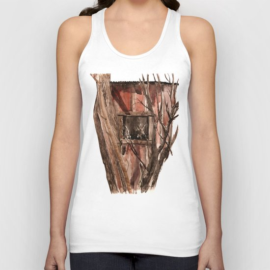 Barn window Unisex Tank Top